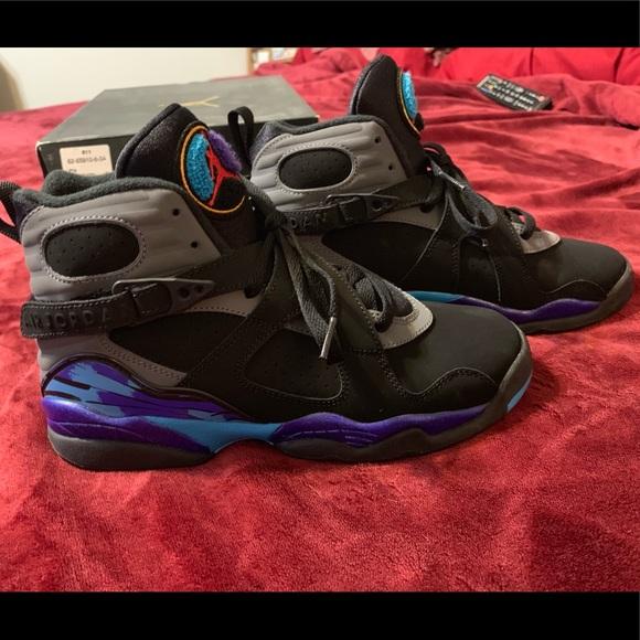 release date 6b09a 98db8 Kids Jordan Retro Aqua 8's